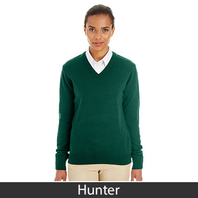 Harriton Ladies' Pilbloc V-Neck Sweater M420W