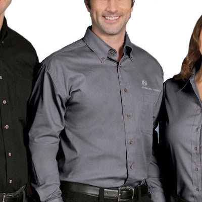 Harriton embroidered shirts for work no minimum for Company shirts with logo no minimum
