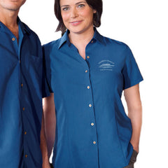 Harriton Ladies Barbados Textured Camp Shirt - EZ Corporate Clothing  - 1