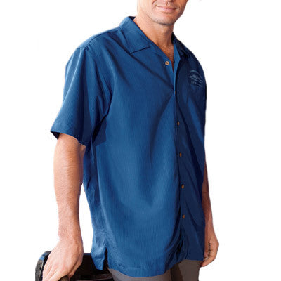 Harriton Mens Barbados Textured Camp Shirt - EZ Corporate Clothing  - 1