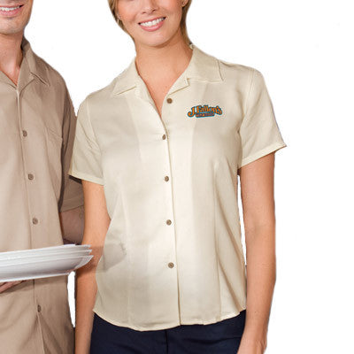 Harriton Ladies Bahama Cord Camp Shirt - EZ Corporate Clothing  - 1