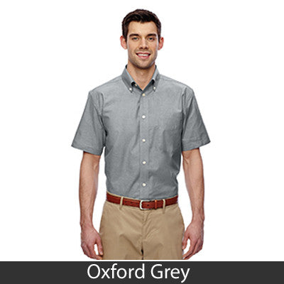 Harriton Mens Short-Sleeve Oxford with Stain-Release - EZ Corporate Clothing  - 4