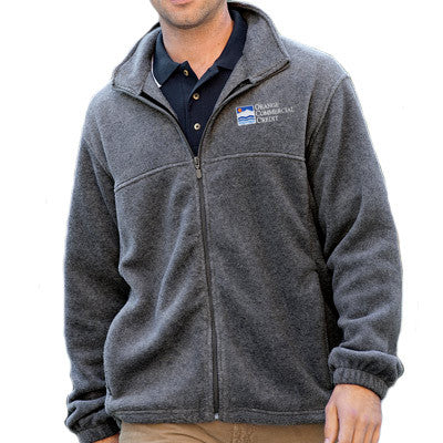 Harriton Mens 8oz. Full-Zip Fleece