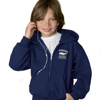 Hanes Youth Comfortblend Ecosmart Full-Zip Hoodie - EZ Corporate Clothing  - 1