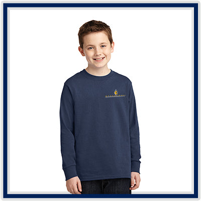 Port & Company Youth Long-Sleeve Core Cotton Tee - Stachowski Farms - PC54YLS