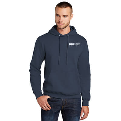 Biocare Medical Core Fleece Pullover Hooded Sweatshirt - Port & Company PC78H - EMB