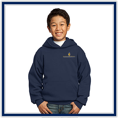Port & Company Youth Core Fleece Pullover Hooded Sweatshirt - Stachowski Farms - PC90YH