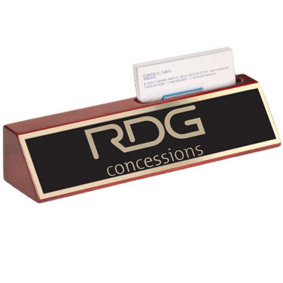 Custom Desk Wedge with Business Card Holder - EZ Corporate Clothing  - 2