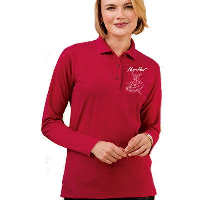92b82221 Port Authority Ladies Silk Touch Long Sleeve Polo - Printed - EZ Corporate  Clothing - 1