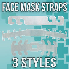 Face Mask Covering Ear Protector/Saver/Strap Extender - Made in USA - Acrylic Plastic - LZR