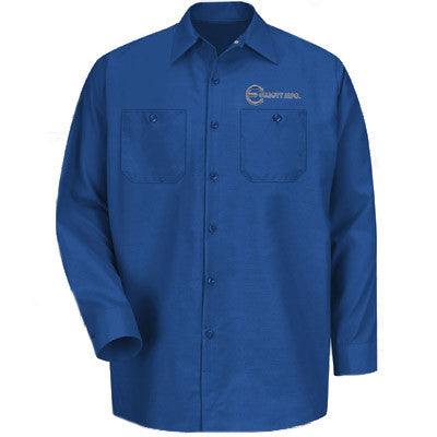 Red Kap Long-Sleeve Industrial Work Shirt