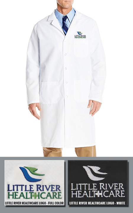 XL-1389F-Free Embroidery 31 inch Multiple Pockets Mens Twill Consultation  Lab Coat
