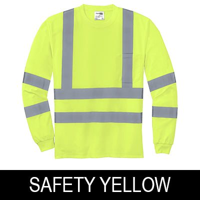 CornerStone Hi-Vis Long-Sleeve Shirt - ANSI 107 Class 3 - Snag-Resistant