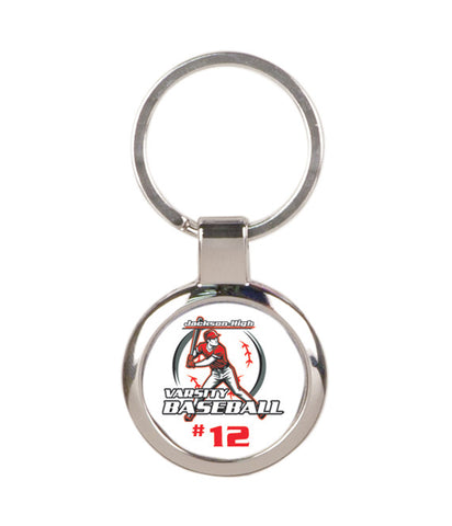 Customizable Round Silver Keychain - EZ Corporate Clothing  - 2