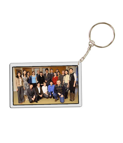Rectangle Ceramic Keychain with Custom Picture - EZ Corporate Clothing  - 2