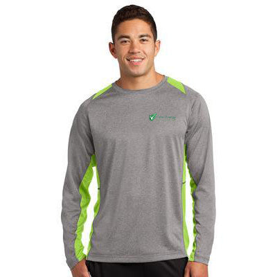 Long Sleeve Heather Colorblock Contender Tee - Clean Energy Collective