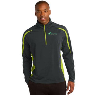 Sport-Tek Stretch 1/2-Zip Colorblock Pullover - Clean Energy Collective - EZ Corporate Clothing  - 1