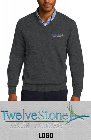 Port Authority V-Neck Sweater - TwelveStone Health Partners