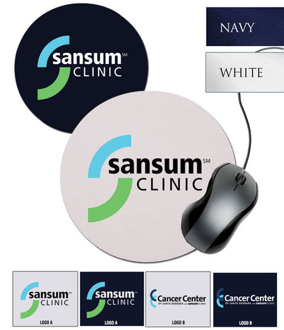 Sansum Clinic Round Mousepad - EZ Corporate Clothing  - 2