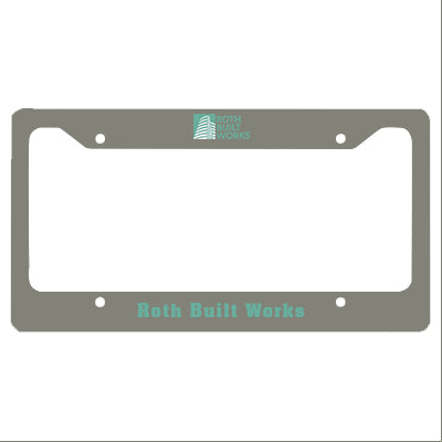 Custom Promotional License Plate Frame
