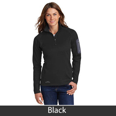89f185186bc ... 1- Eddie Bauer Ladies 1 2-Zip Performance Fleece Jacket - EB235 ...