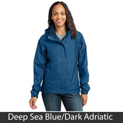 1- Eddie Bauer Ladies Rain Jacket - EB551 - EZ Corporate Clothing  - 3