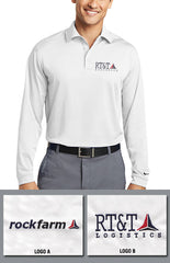 Rockfarm Nike Golf Long Sleeve Men's Dri-Fit Stretch Tech Polo - EZ Corporate Clothing  - 1