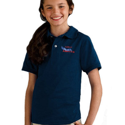 Jerzees Youth 5.6oz, 50/50 Jersey Polo With SpotShield