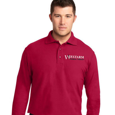 Port Authority Men's Silk Touch Long Sleeve Polo - WestArm Therapy - K500LS