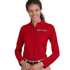 Port Authority Ladies' Silk Touch Long Sleeve Polo - WestArm Therapy - L500LS
