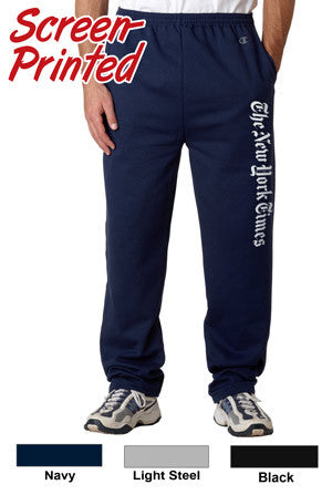 Champion Adult Open Bottom Sweatpants With Pockets