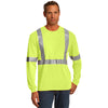 CornerStone Long-Sleeve Hi-Vis Safety Shirt - ANSI 107 Class 2