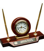 Custom Desk Clock with Pens - EZ Corporate Clothing  - 1