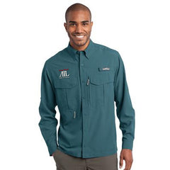 1- Eddie Bauer Long Sleeve Performance Fishing Shirt- EB600 - EZ Corporate Clothing