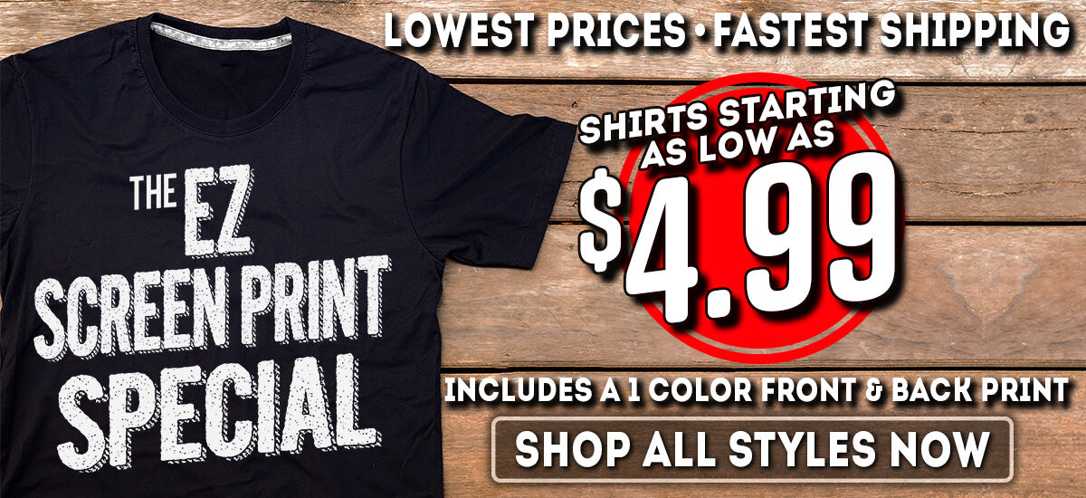 Customized Screen Printed Clothing Special