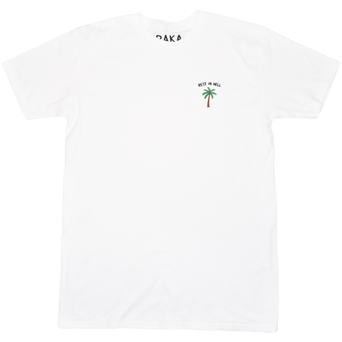 EMBROIDERED REST IN HELL TEE