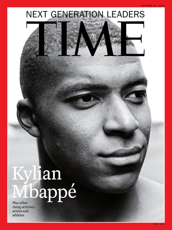 Kylian Mbappé on Cover of Time Magazine