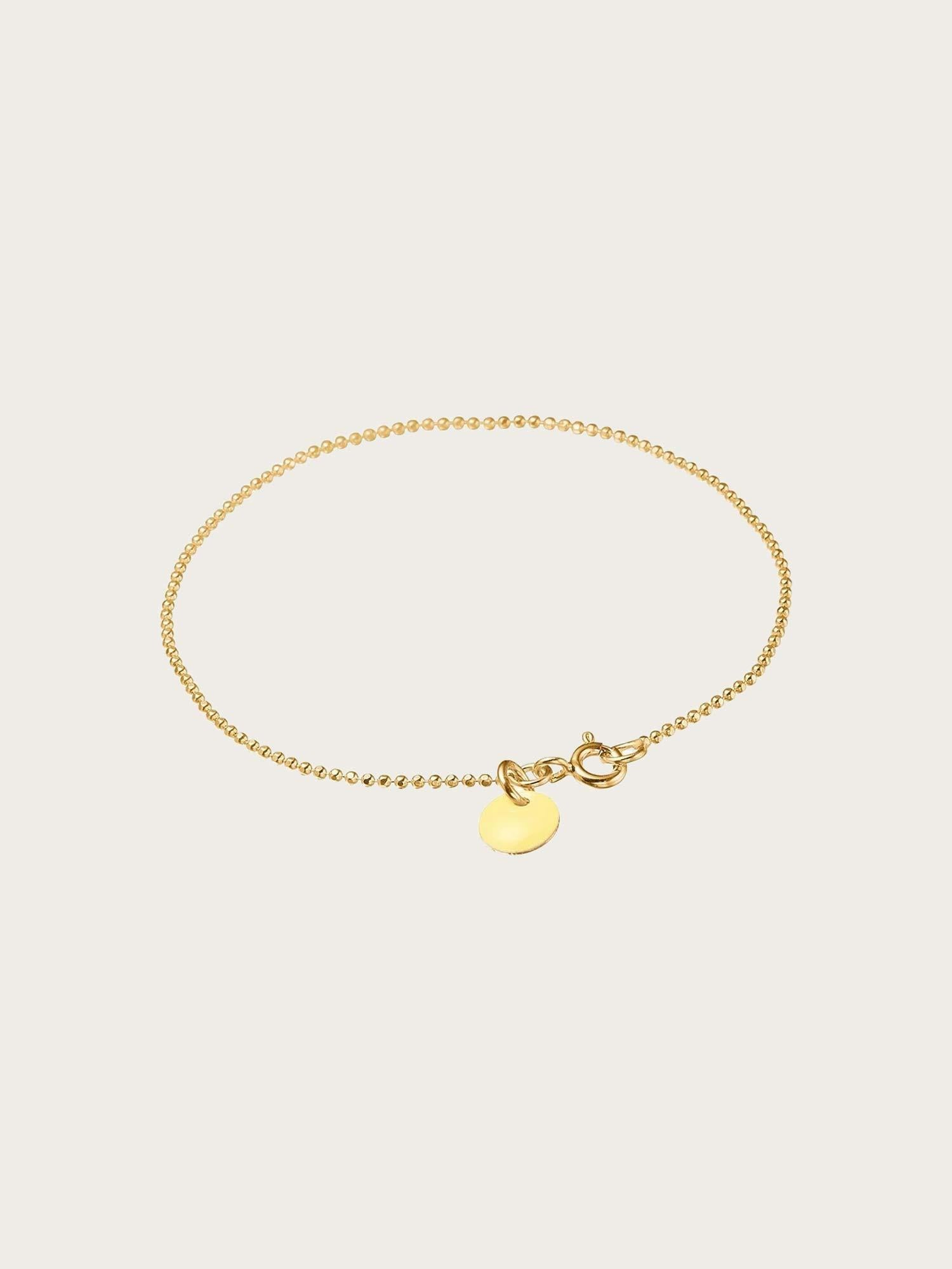 Bracelet Ball Chain Light Yellow