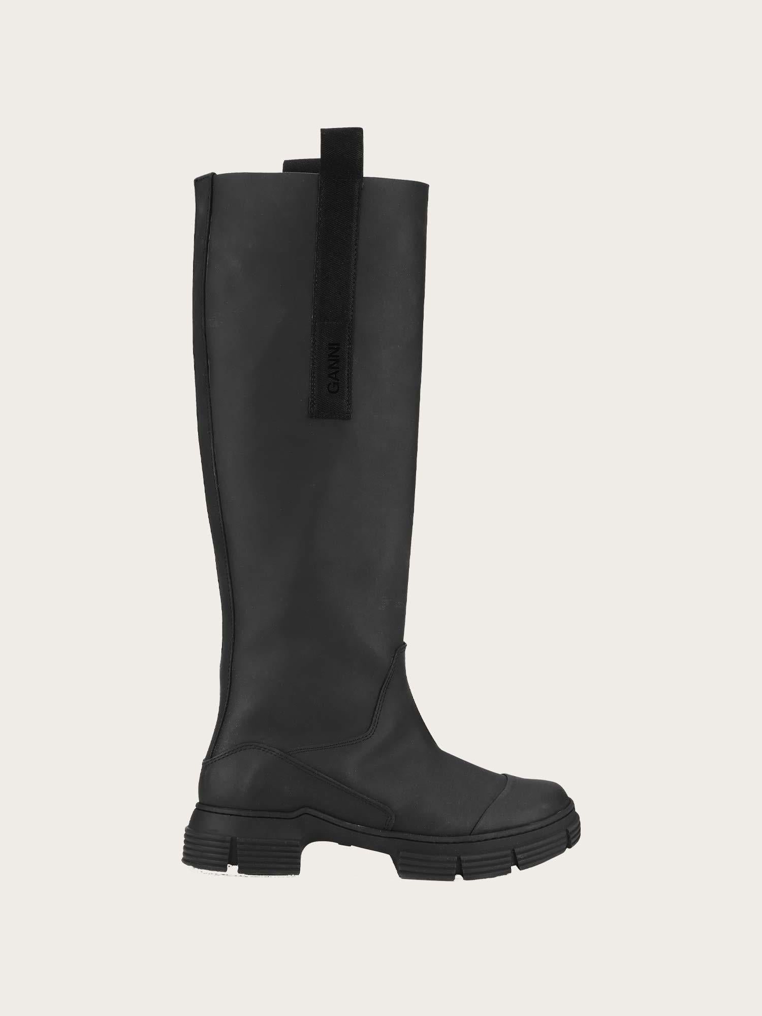 S1222 Recycled Rubber Country Boot Black