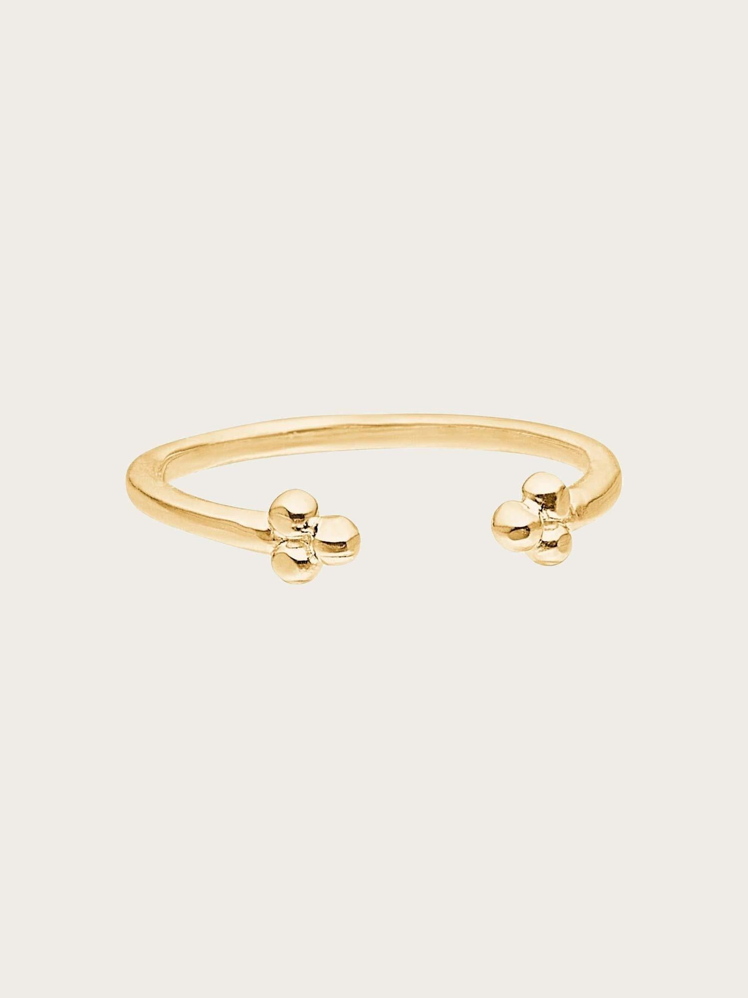 Ring Simple Flower Gold