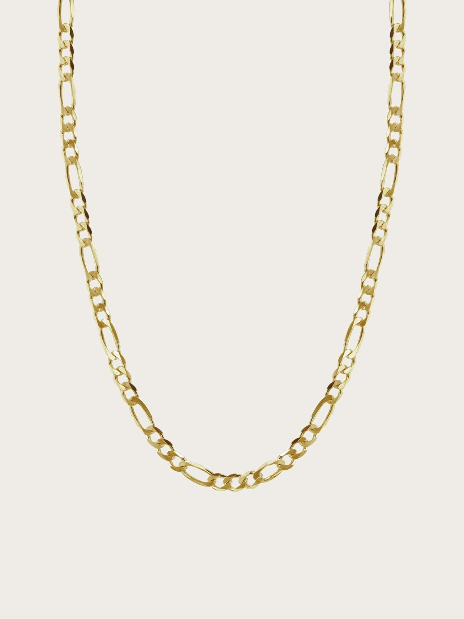 Space - Flat Figaro Necklace 3,15 mm Gold