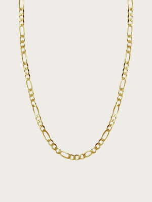 Hasla Space - Flat Figaro Necklace 3,15 mm Gold