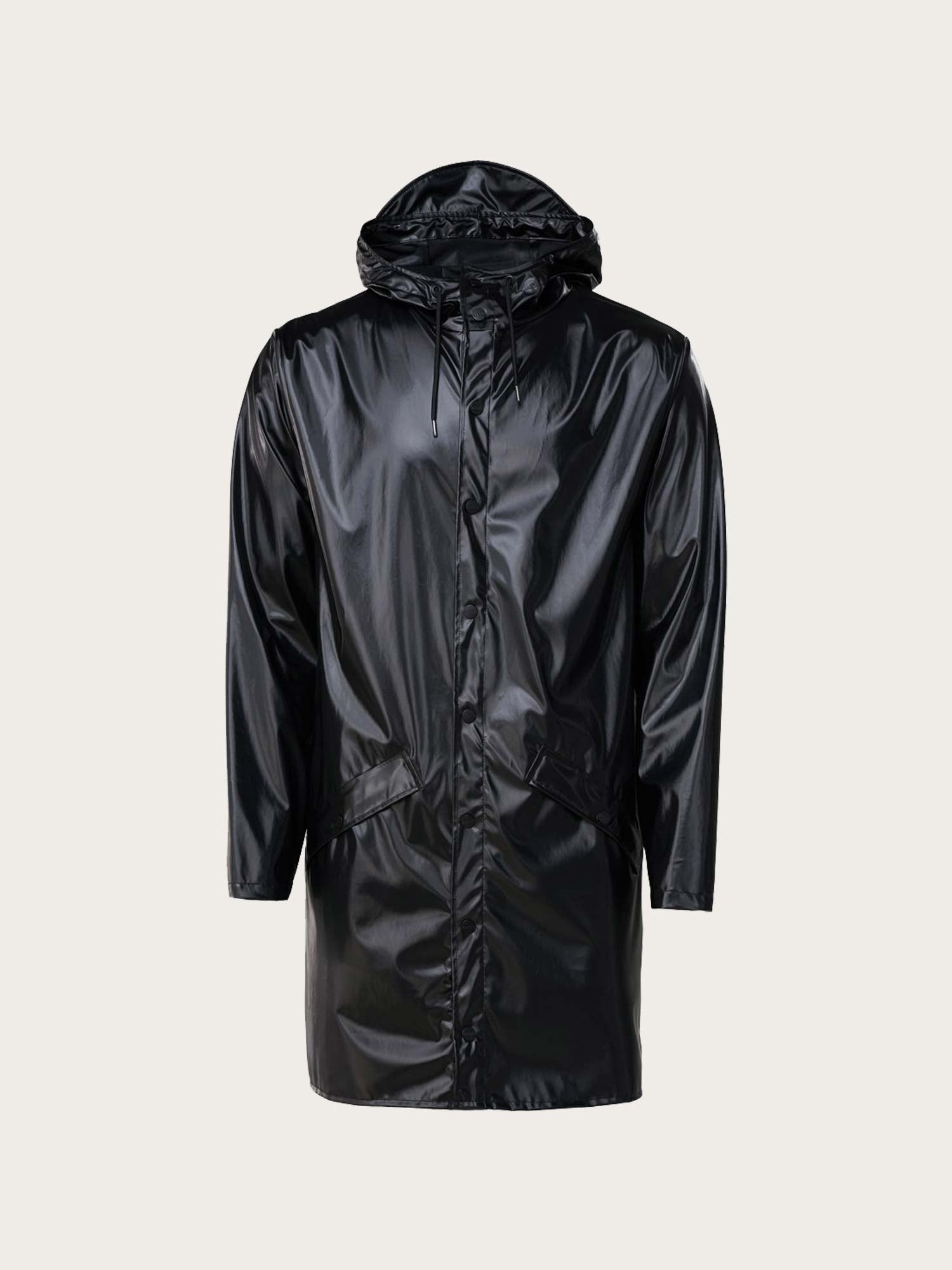 Long Jacket Shiny Black