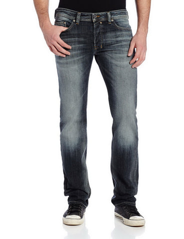 Diesel Mens Safado Regular Slim Straight-Leg Jean 0885K inseam 34