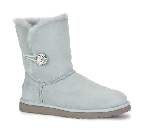 UGG AUSTRALIA  Womens BAILEY BUTTON BLING BOOTS 3349-ICE