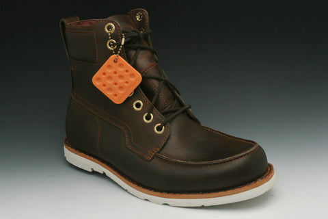 a40abfd3 Timberland Men's Earthkeepers 2.0 Rugged 6-Inch WP Moc Toe Boot in  Burnished Dark Brown