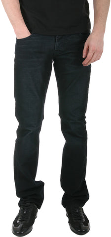 HUDSON MENS BYRON FIVE POCKET STRAIGHT JEANS IN WAXED ABYSS M255CPV-WXAB