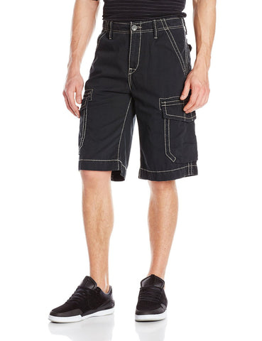 TRUE RELIGION TROOPER CARGO SHORTS BBA BLACK MNQB078NJ0-1130