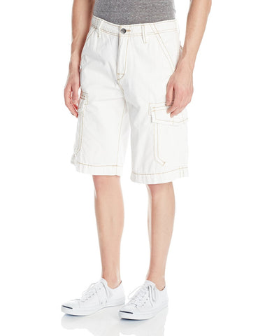TRUE RELIGION TROOPER CARGO SHORTS BBA WHITE MNQB078NJ0-1803