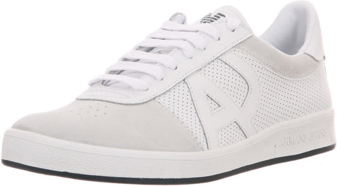 ARMANI JEANS MENS SUAD SNEAKERS IN White (VM510-10)
